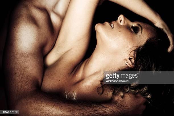 Woman making love