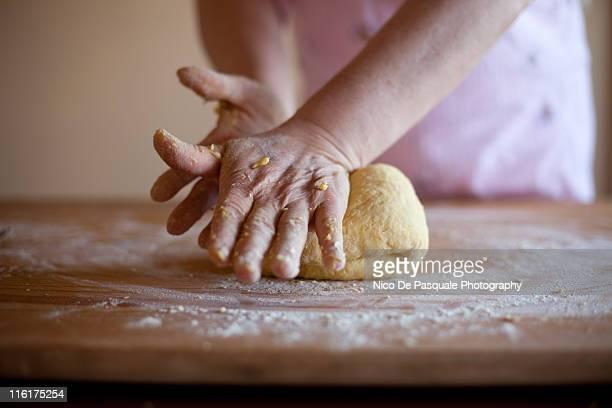 Woman making some whole wheat pasta dough