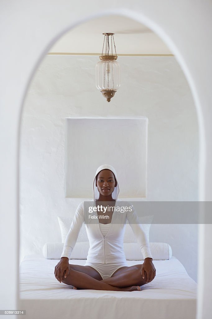 Woman meditating : Stock Photo
