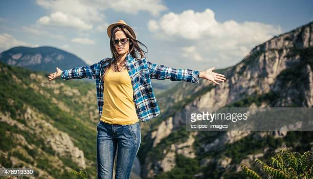 Woman mountain Hiker