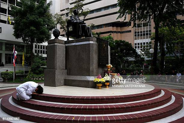 Woman mourns the death of Thailand's King Bhumibol Adulyadej at Siriraj Hospital in Bangkok early October 14, 2016. King Bhumibol Adulyadej, long a...