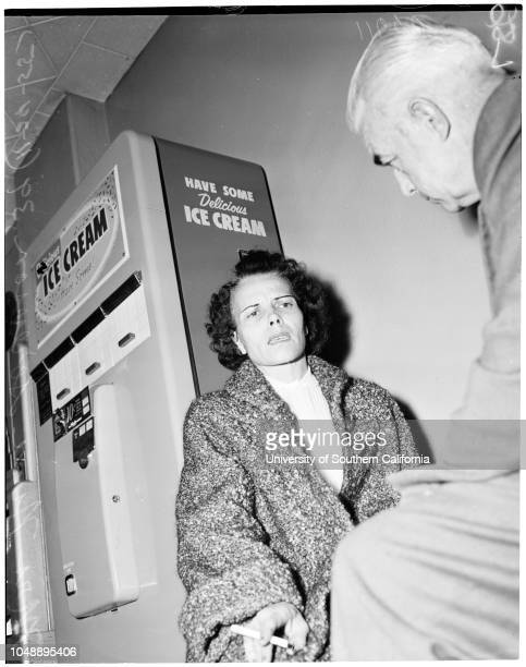 Woman murders husband while he was sleeping, 24 November 1955. Mrs Nina Sorenson -- 29 years ;Officer D.E Little;Officer O.L Green;William Carlton...