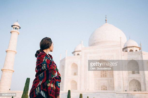 Woman near Taj Mahal