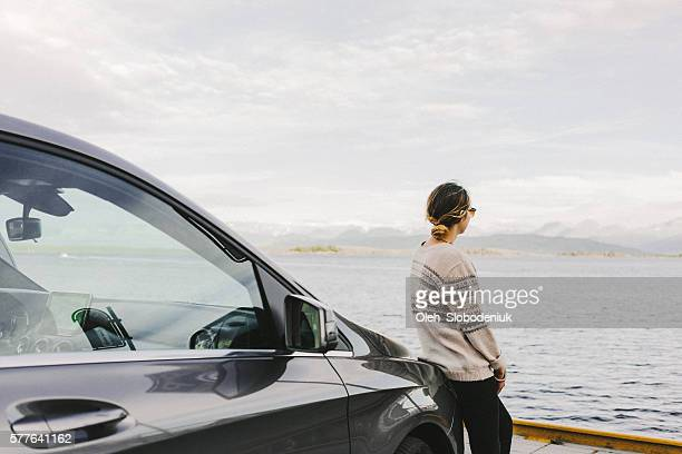 Woman near the car