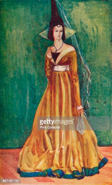 A Woman of the Time of Edward IV' 1907 From English Costume painted and described by Dion Clayton Calthrop [Adam Charles Black London 1907] Artist...