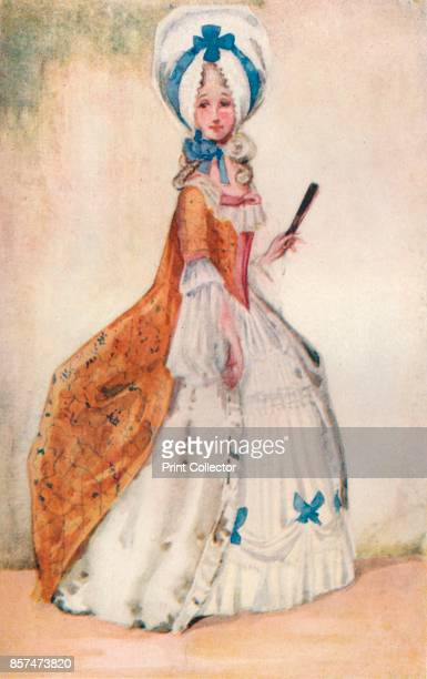 A Woman of the Time of George III' 1907 From English Costume painted and described by Dion Clayton Calthrop [Adam Charles Black London 1907] Artist...