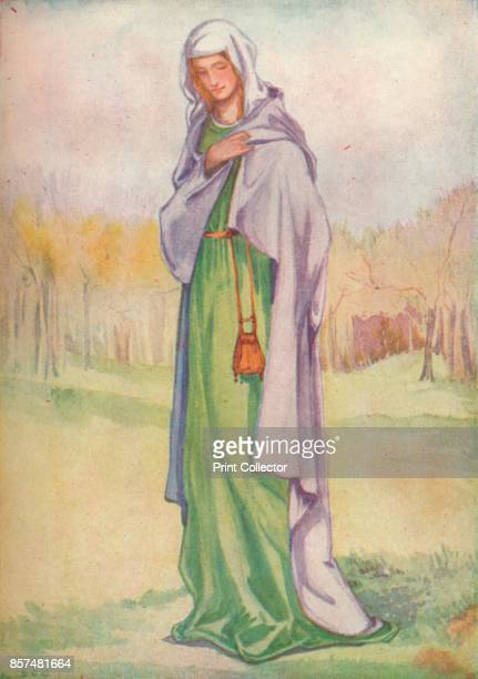 A Woman of the Time of Henry III' 1907 From English Costume painted and described by Dion Clayton Calthrop [Adam Charles Black London 1907] Artist...