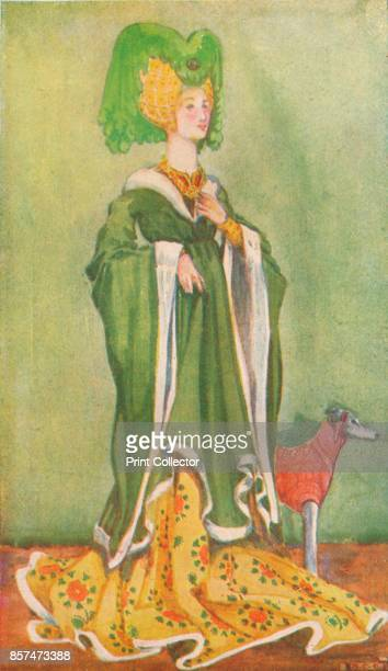 A Woman of the Time of Henry VI' 1907 From English Costume painted and described by Dion Clayton Calthrop [Adam Charles Black London 1907] Artist...