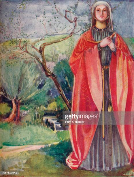 A Woman of the Time of John' 1907 From English Costume painted and described by Dion Clayton Calthrop [Adam Charles Black London 1907] Artist Dion...