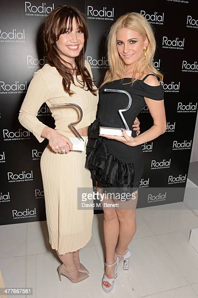 Woman of the Year winner Daisy Lowe and Most Stylish Award winner Pixie Lott attend the 5th annual Rodial Beautiful Awards to celebrate women of...