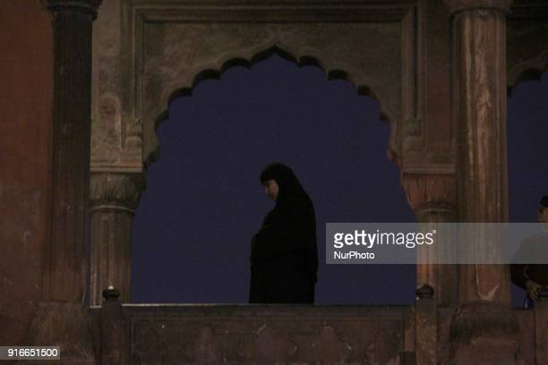 A woman offer prayers at Jamia Masjid Old Delhi India on 10 February 2018