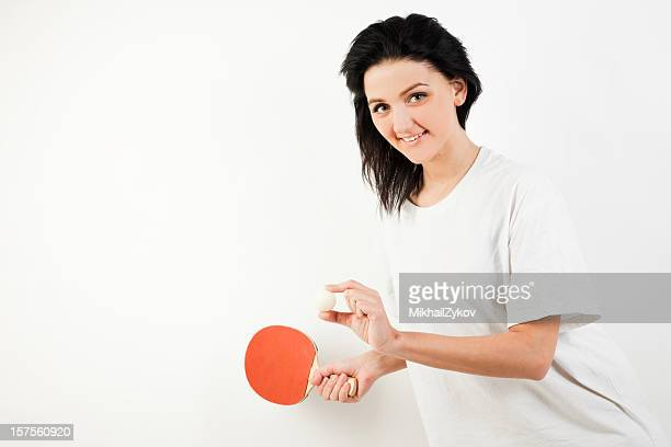 Woman offer to play table tennis