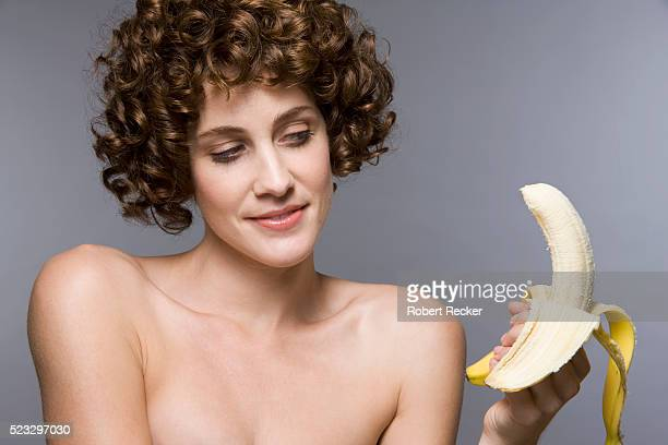 Woman Ogling Banana