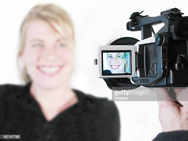 Woman on a Camcorder