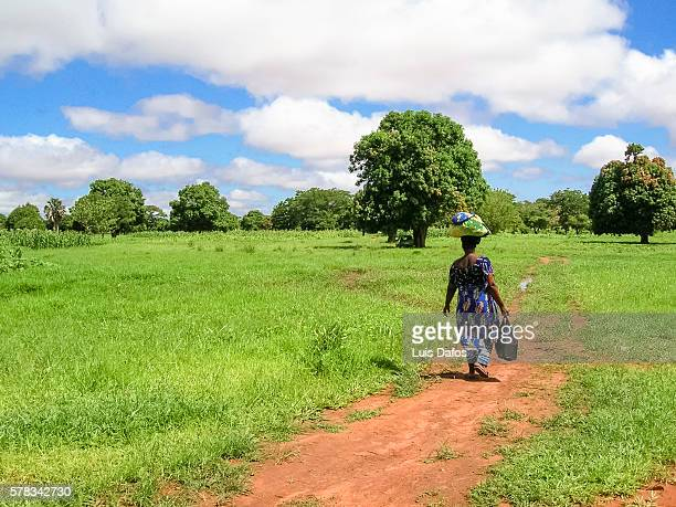 Woman on a countryside path