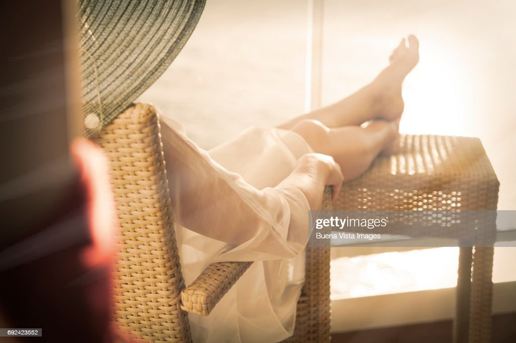 woman on a cruise ship : Stock Photo