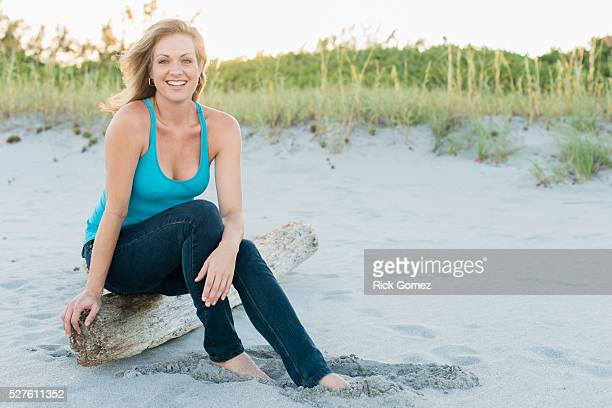 Woman on beach, Delray Beach, Florida, USA