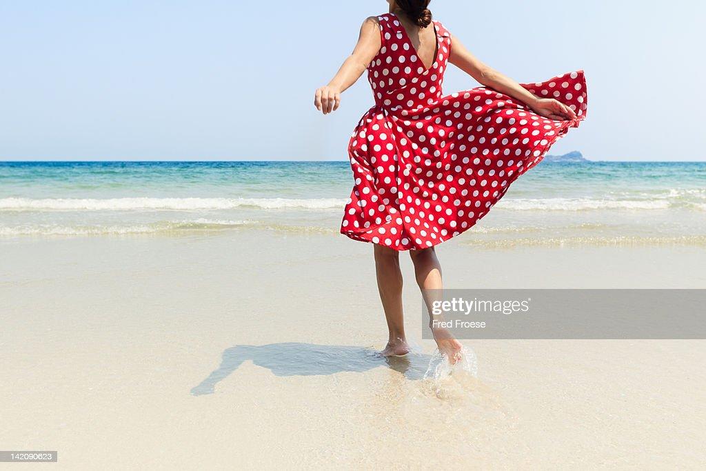 Woman on beach : Stock Photo