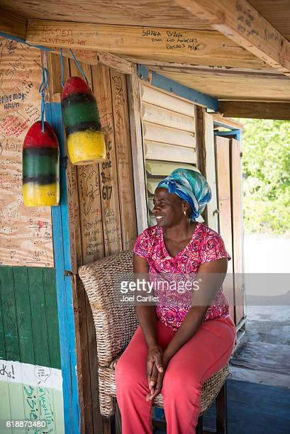 woman on caribbean island of st. kitts - st. kitts stock photos and pictures
