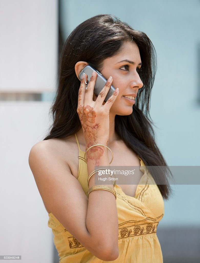 Woman on Cell Phone : Stock Photo