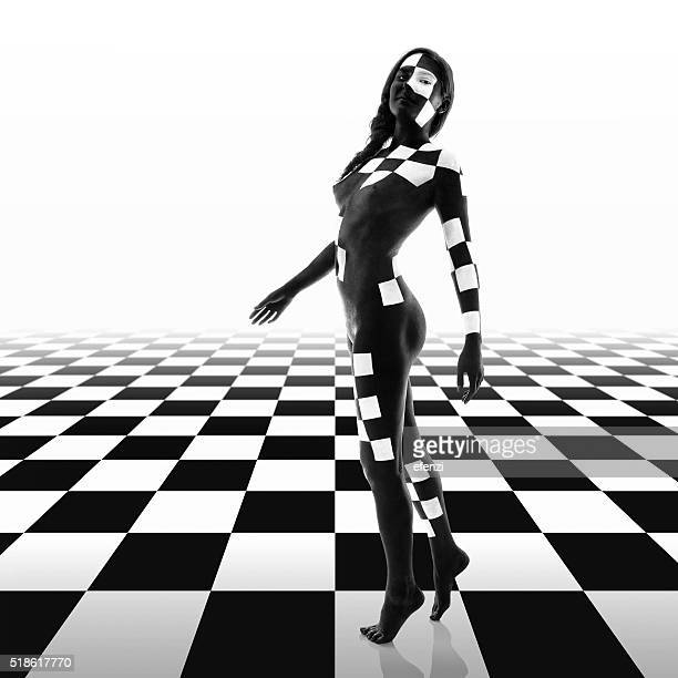 Woman On Checkerboard