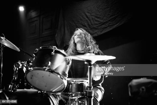 Woman on drums