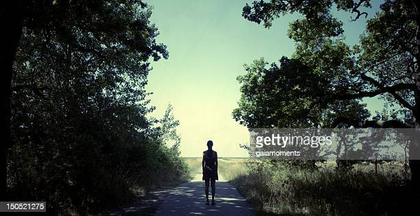 Woman On Forest Path