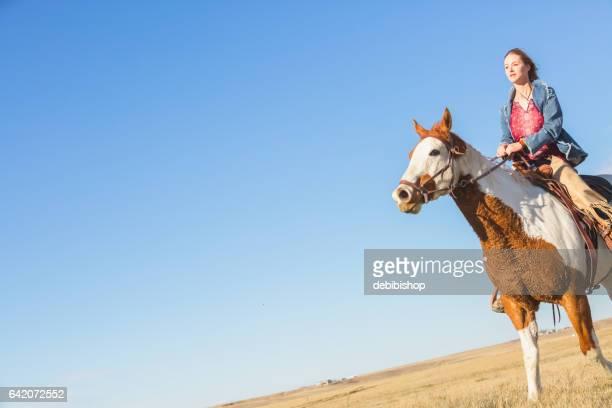 frau auf dem rücken der pferde - istock stock-fotos und bilder
