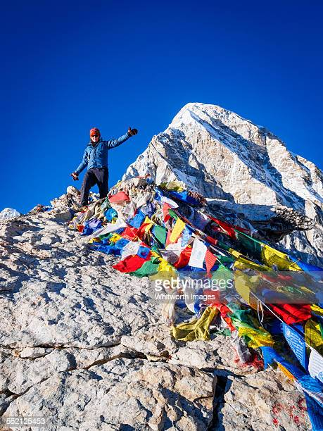 Woman on Kala Pattar Everest viewpoint, Nepal