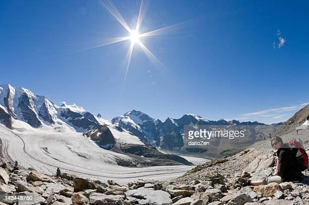Woman on Morteratsch Glacier