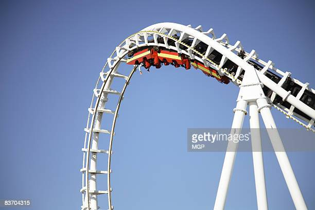 woman on rollercoaster