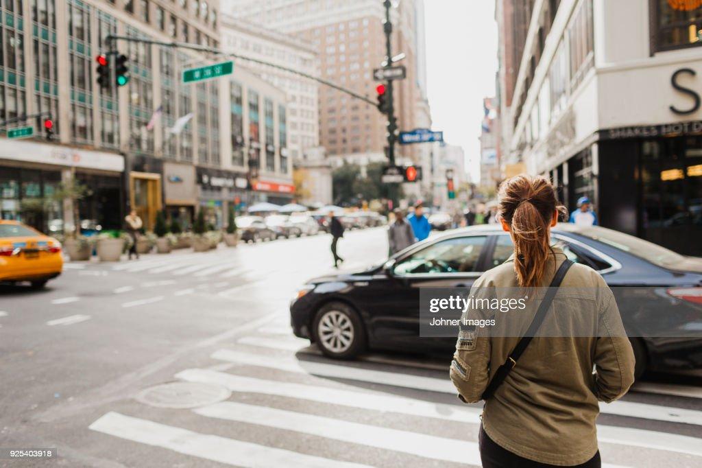 Woman on street : Stock Photo