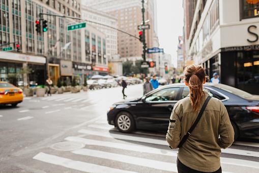 Woman on street - gettyimageskorea