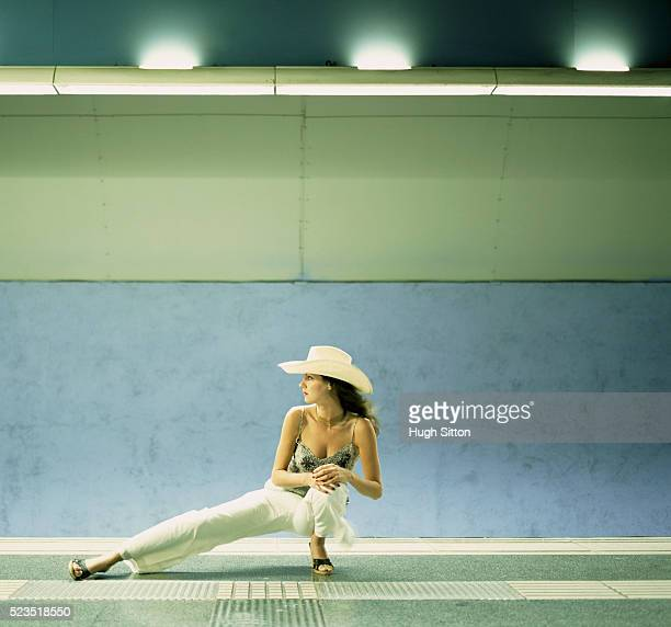 Woman on Subway Platform