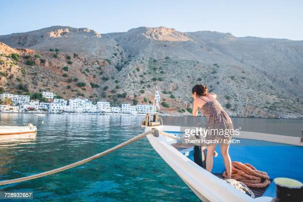 Woman On Taking Picture On Boat