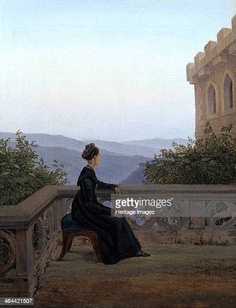 Woman on the Balcony 1824 Found in the collection of the Dresden State Art Collections