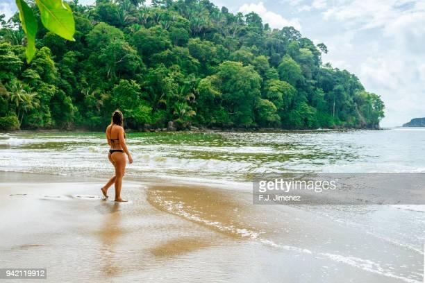 Woman on the beach of Manuel Antonio, Costa Rica