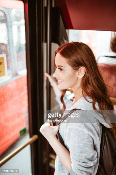 woman on the bus in london