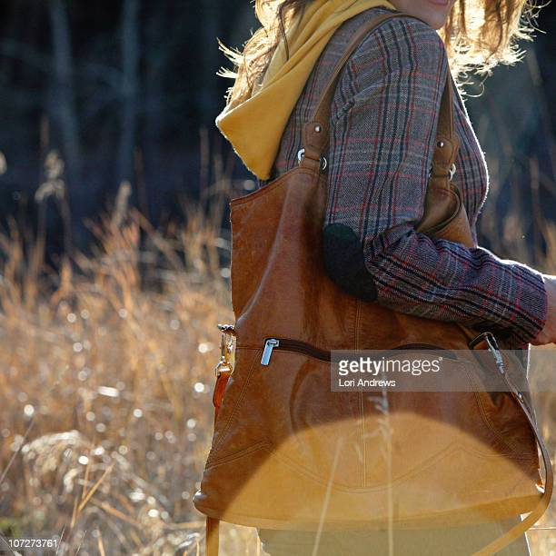 woman outdoors in fall jacket