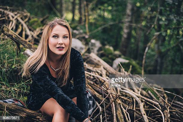 Woman outdoors in nature