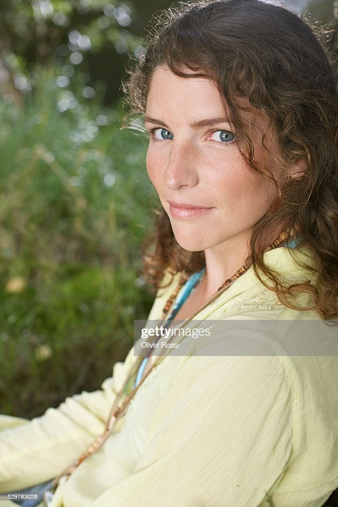 Woman Outside : Stock Photo