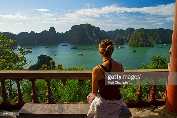 Woman overlooking Halong Bay