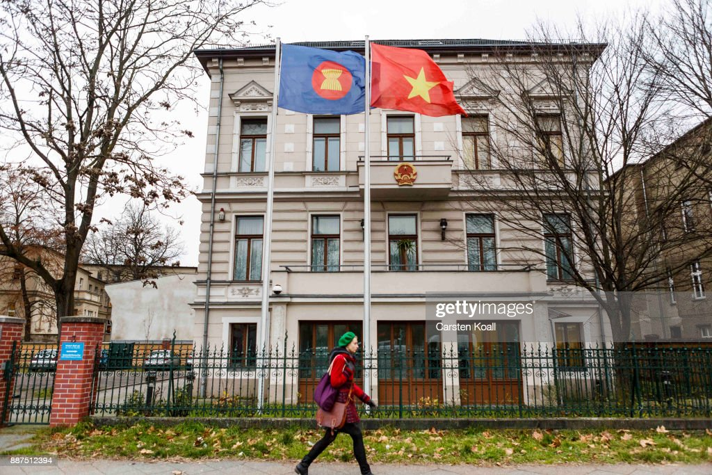 A woman passing by the Vietnamese Embassy on December 7, 2017 in Berlin, Germany. According to German newspaper Sueddeutsche Zeitung evidence suggests the Vietnamese Embassy had a direct role in the July 23 kidnapping of Vietnamese politician Trinh Xuan Thanh. Trinh, who had sought asylum Berlin after fleeing charges in Vietnam, was kidnapped in broad daylight on the street in Berlin. According to Sueddeutsche Zeitung the van used in the kidnapping drove directly to the Vietnamese Embassy and embassy employees took part in the getting him out of the country. Trinh appeared several days later in custody in Vietnam.