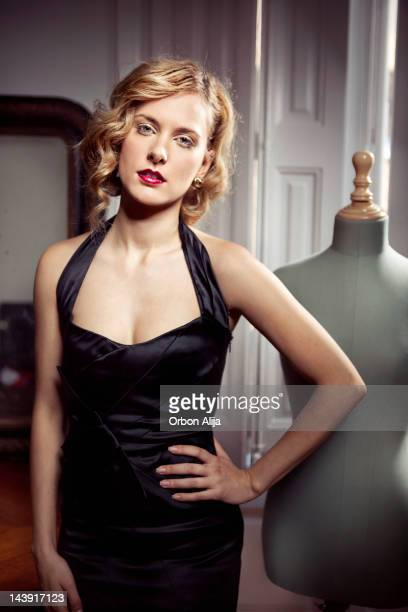 woman - dress cleavage stock pictures, royalty-free photos & images