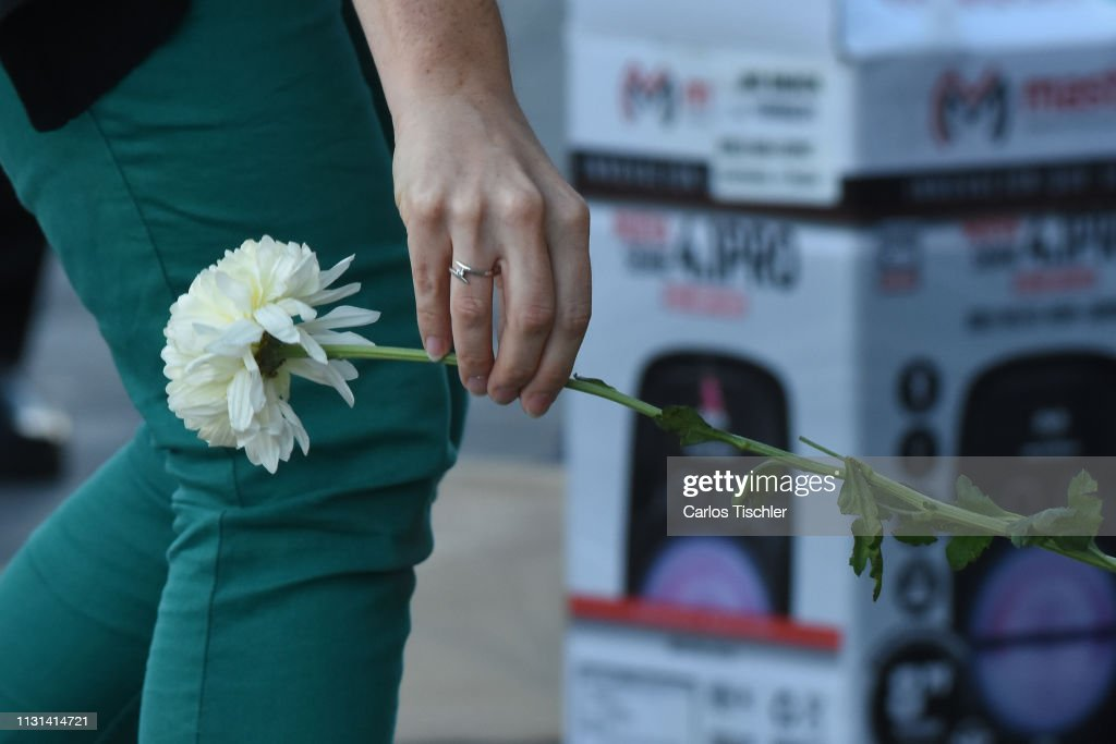 MEX: Floral Offering and Protest to Demand Justice for Mexican Environmental Activist Samir Flores Soberanes