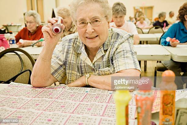 Woman playing bingo