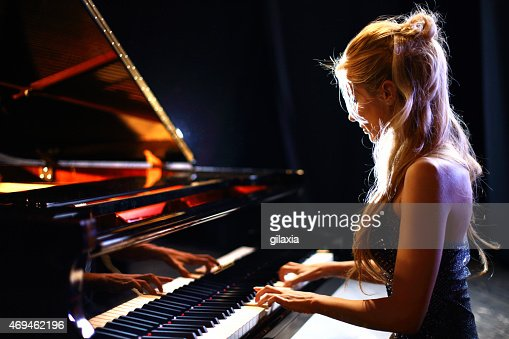 Woman Playing Piano In A Concert Stock Photo Getty Images