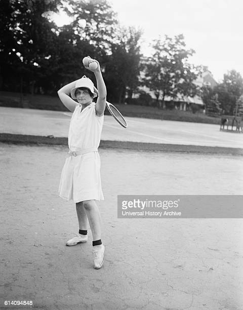 Woman Playing Tennis Chevy Chase Maryland USA circa 1928