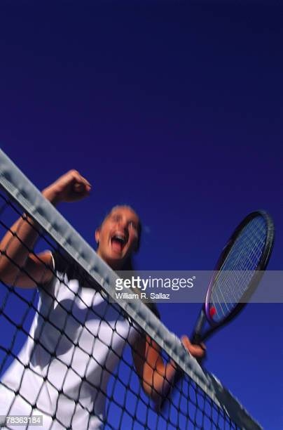 woman playing tennis - match point scoring stock pictures, royalty-free photos & images