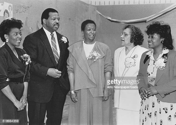 Woman politician and Maryland congressional representative Elijah Cummings Charlene Cooper Boston a mother and daughter 1990